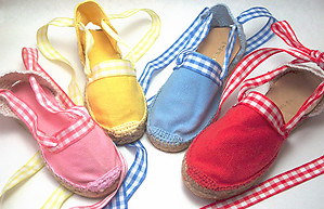 E-11 - Yellow Gingham Espadrilles